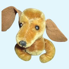 Adorable Vintage Mohair Dachshund for your Doll's Companion
