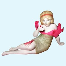 Antique All Bisque Bathing Beauty