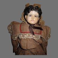 Sweet Paper Mache Head Doll