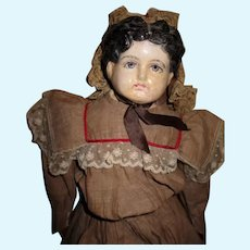 Sweet Paper Mache Head Doll