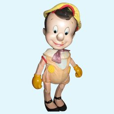 1940's Original Disney Composition Pinocchio Doll