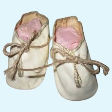 Vintage Oil Cloth Doll Shoes for Your Baby or Mama Doll