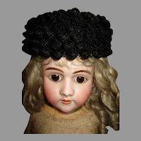 Vintage Black Bonnet for your Antique Doll