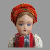 Beautiful Russian Terracotta Head Doll