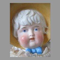 Beautiful Antique Bonnet Head Doll