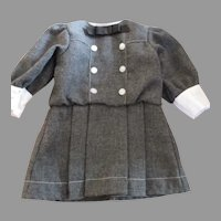 Grey Wool Dress for your American Girl Doll