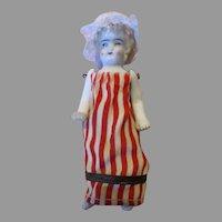 Miniature Stone Bisque German Doll