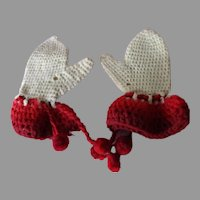 Antique Wool Doll Mittens