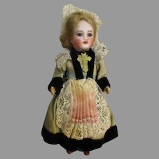 Antique Miniature French Doll with Bisque Head