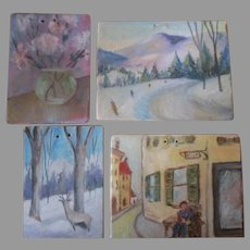 Miniature Paintings for Your Doll House or Room box