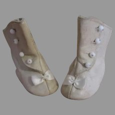 Vintage Leather Doll Boots