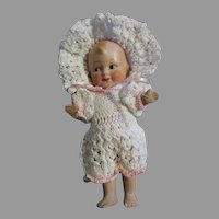 "Adorable All Bisque 5"" Doll"