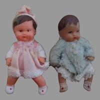 Miniature Vintage German Doll House Dolls