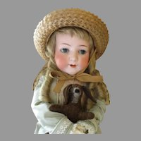 """Big and Beautiful 30"""" Heubach 312 Bisque Head Doll"""