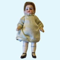 "Adorable 3.5"" All Bisque Doll"