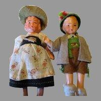 "Miniature 3.75"" German Doll House Dolls"