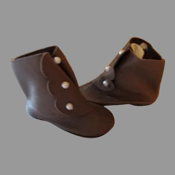 Vintage Side Button Doll Boots