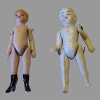 "Tiny 2.5"" Miniature All Bisque Dolls"