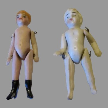 "Tiny 2.5"" Miniature All Bisque Dolls"