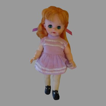 Vintage Green Eyed Red Headed Toddler Doll