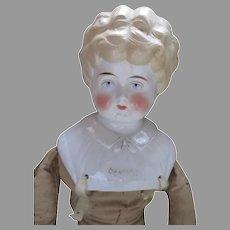 "Large 27"" Blond China Head Doll - Bertha"