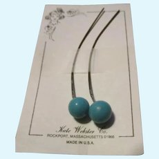 Lovely Blue Earrings For Your French Fashion Doll
