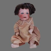 """Adorable 13"""" Bisque Head Baby Doll on Bent Jointed Compo Body"""