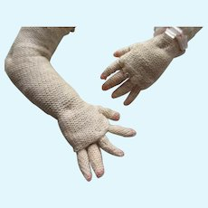 Vintage Cloth Doll Arms with Individual Fingers