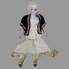Sweet Bisque Head Parian Doll