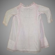 Darling Antique A-Line Pink Cotton Dress for your Antique Doll
