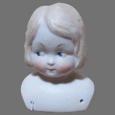 German Side Glancing Doll Head - Shoulder Head