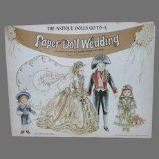 Uncut Vintage Paper Doll Wedding by Peggy Jo Rosamond