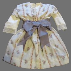Sweet Handmade Floral Dress for your Antique Doll