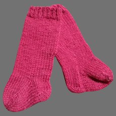Red Knit Doll Stockings