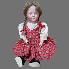 """Sweet 12"""" Kestner 185 Character Child Bisque Head Doll"""