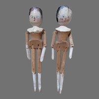 Two German Wooden Dolls