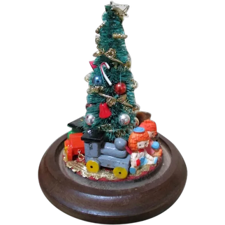 Miniature Christmas Tree Under Dome for Your Doll House or Doll