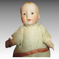 Bisque Head Nippon Baby Doll with Compo Body