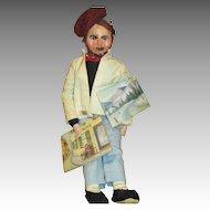 Vintage Paper Mache Head Artist Doll