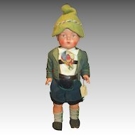 "Darling 10"" Antique German Celluloid Doll in Original Outfit"