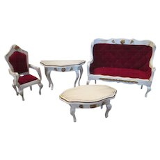 French Style Doll House Parlor Furniture - Vintage - Very Pretty - Red Tag Sale Item