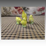 Small All Bisque Chicken & Chicks for your Dolls or Room Box