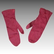 Antique Red Doll Mittens