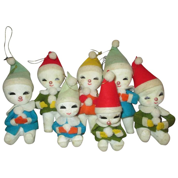 vintage christmas ornaments japan cute red tag sale item - Vintage Christmas Ornaments For Sale