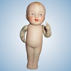 Sweet Antique All Bisque Nippon Toddler - Unusual Face