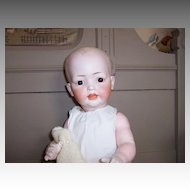 Large Kley & Hahn Solid Dome Character Baby w/Pensive Look