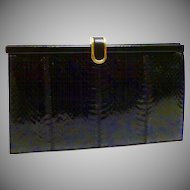 Fantastic Black Cobra Vintage Clutch Purse - Made in England