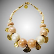 Big and Bold Marie Victoire Kamer Necklace - Paris 1980s
