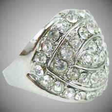Amazing Crystal Cocktail Ring
