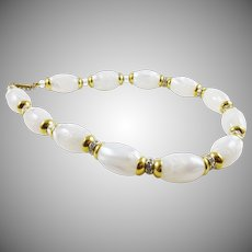 Gorgeous Lucite Choker with Rhinestone and Crystal